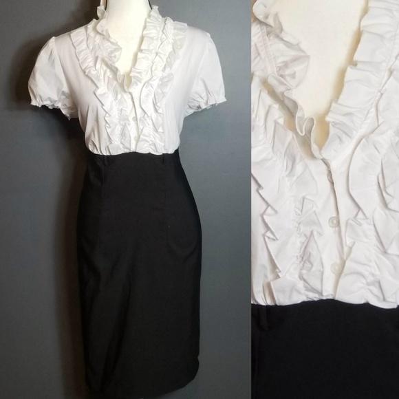17520049573 CATO NWT Black   White Dress Plus Size 16